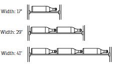 wine rack width